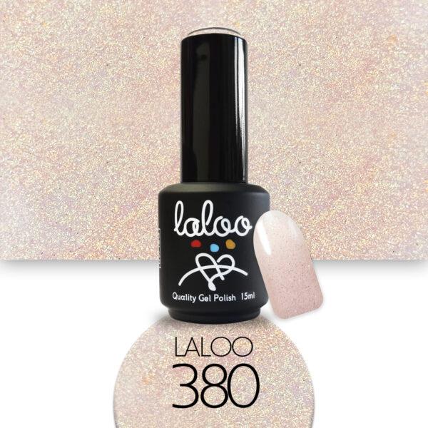 Ημιμόνιμο βερνίκι Laloo Cosmetics 15ml - N.380 Μπεζ της άμμου (χρυσό shimmer)
