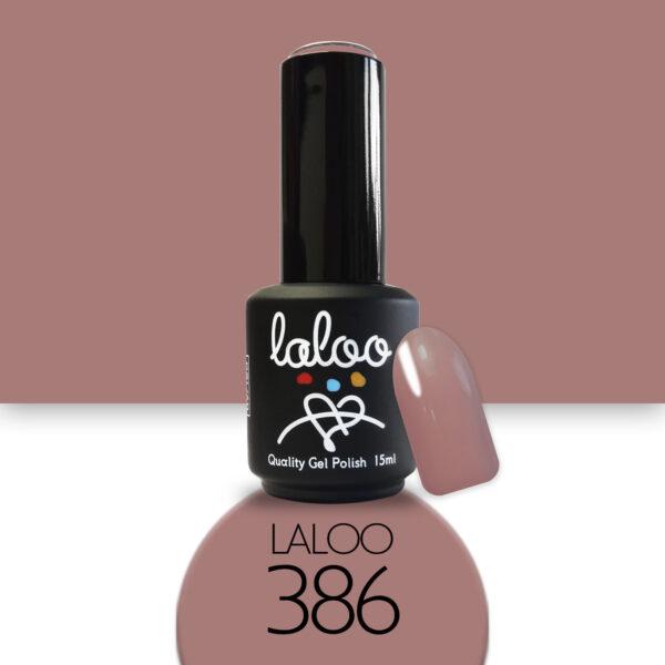 Ημιμόνιμο βερνίκι Laloo Cosmetics 15ml - N.386 Μπεζ camouflage