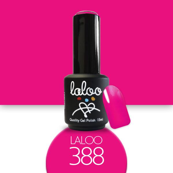 Ημιμόνιμο βερνίκι Laloo Cosmetics 15ml - N.388 Φούξια που μωβίζει έντονο