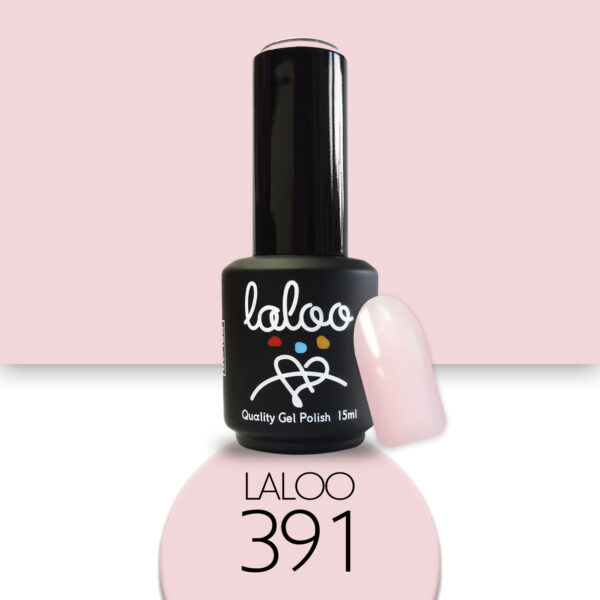 Ημιμόνιμο βερνίκι Laloo Cosmetics 15ml - N.391 Ροζ nude που μωβίζει