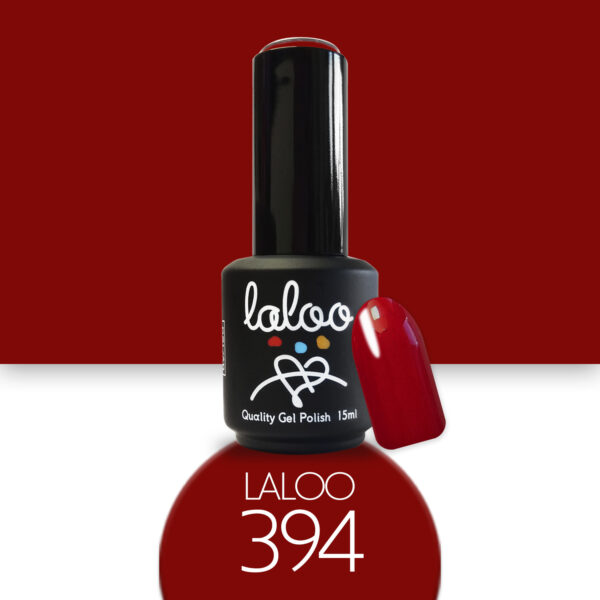 Ημιμόνιμο βερνίκι Laloo Cosmetics 15ml - N.394 Κόκκινο βαθύ