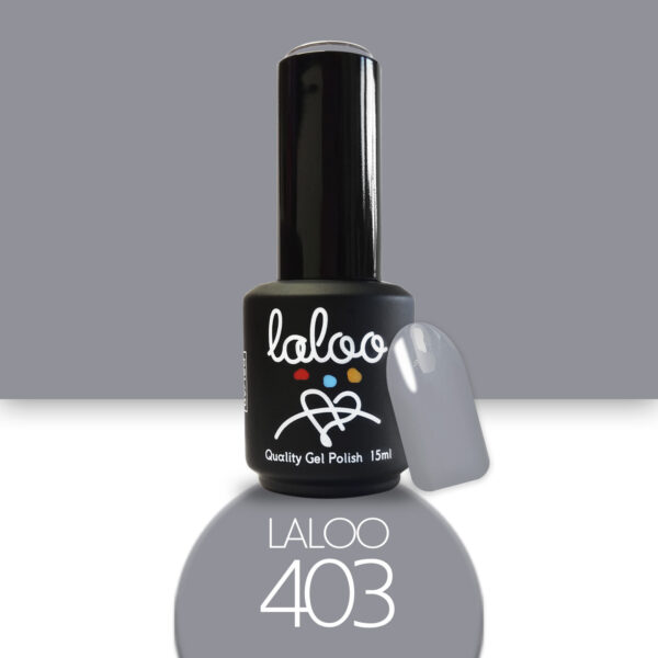 Ημιμόνιμο βερνίκι Laloo Cosmetics 15ml - N.403 Γκρι πολύ ανοιχτό