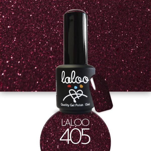 Ημιμόνιμο βερνίκι Laloo Cosmetics 15ml - N.405 Κόκκινο μπορντώ με shimmer