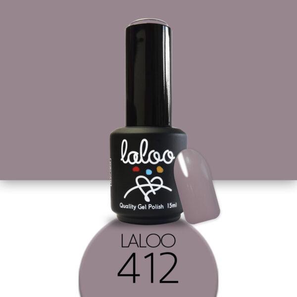 Ημιμόνιμο βερνίκι Laloo Cosmetics 15ml - N.412 Μόκα (καφέ-μπεζ)