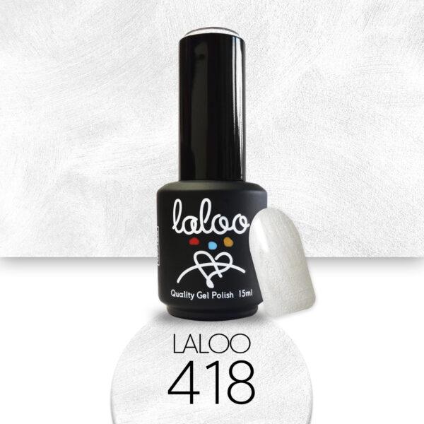 Ημιμόνιμο βερνίκι Laloo Cosmetics 15ml - N.418 Λευκό περλέ