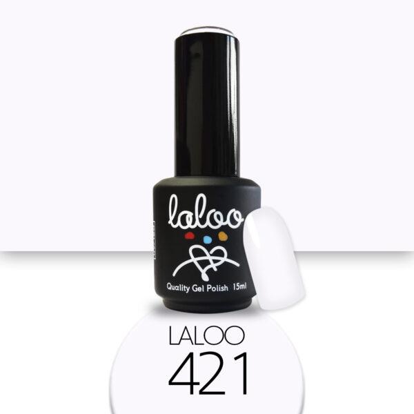 Ημιμόνιμο βερνίκι Laloo Cosmetics 15ml - N.421 Βάση γαλλικού του πάγου (ελαφρώς μωβίζει)