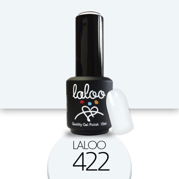 Ημιμόνιμο βερνίκι Laloo Cosmetics 15ml - N.422 Άσπρο γαλάζιο (πολύ ανοιχτό)