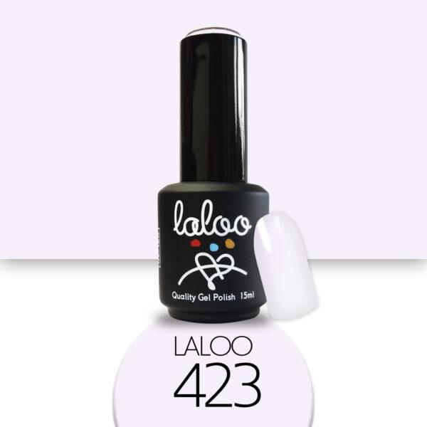 Ημιμόνιμο βερνίκι Laloo Cosmetics 15ml - N.423 Άσπρο μωβ (πολύ ανοιχτό)