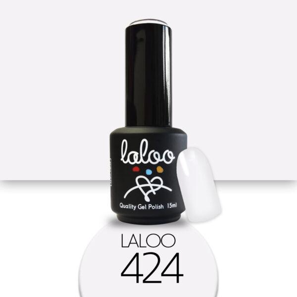 Ημιμόνιμο βερνίκι Laloo Cosmetics 15ml - N.424 Σπασμένο λευκό