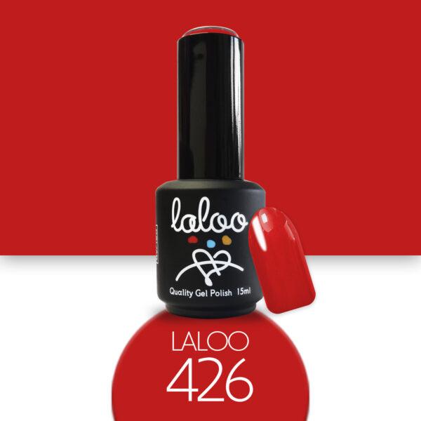 Ημιμόνιμο βερνίκι Laloo Cosmetics 15ml - N.426 Πορτοκαλοκόκκινο