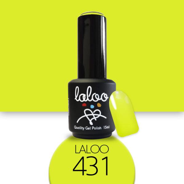 Ημιμόνιμο βερνίκι Laloo Cosmetics 15ml - N.431 Μουσταρδί λαδί ανοιχτό