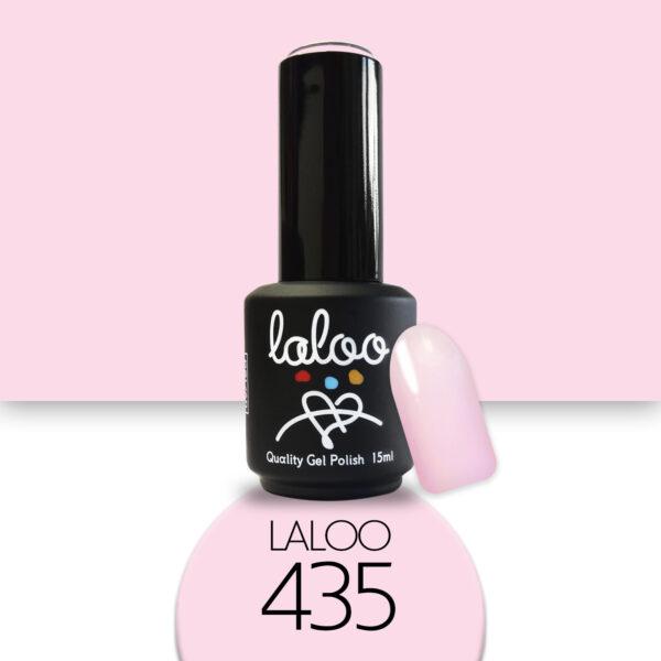 Ημιμόνιμο βερνίκι Laloo Cosmetics 15ml - N.435 Ροζ ανοιχτό