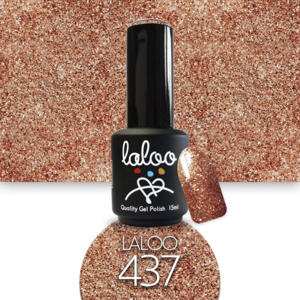 Ημιμόνιμο βερνίκι Laloo Cosmetics 15ml - N.437 Μπρονζέ glitter ψιλόκοκκο
