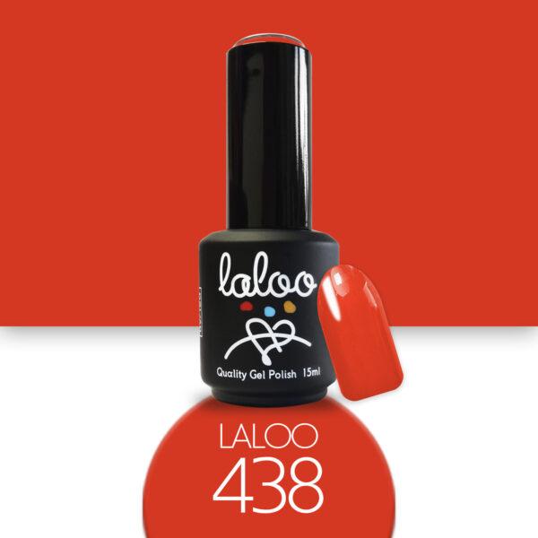 Ημιμόνιμο βερνίκι Laloo Cosmetics 15ml - N.438 Πορτοκαλοκόκκινο ανοιχτό