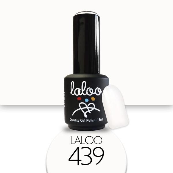 Ημιμόνιμο βερνίκι Laloo Cosmetics 15ml - N.439 Λευκό (σπασμένο) της κρέμας