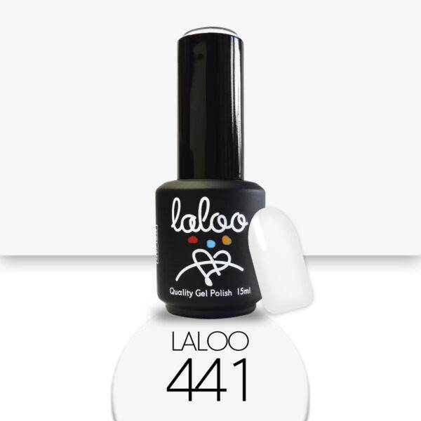 Ημιμόνιμο βερνίκι Laloo Cosmetics 15ml - N.441 Λευκό (σπασμένο) ελαφρώς ωχρίζει