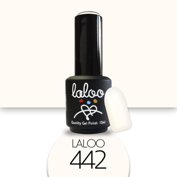 Ημιμόνιμο βερνίκι Laloo Cosmetics 15ml - N.442 Λευκό (σπασμένο) ελαφρώς κιτρινίζει
