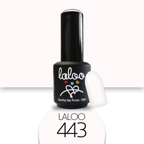 Ημιμόνιμο βερνίκι Laloo Cosmetics 15ml - N.443 Λευκό (σπασμένο) ελαφρώς σομονίζει