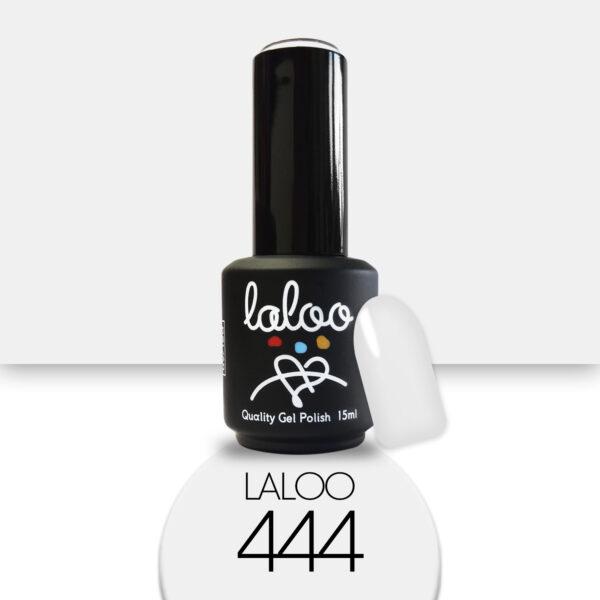 Ημιμόνιμο βερνίκι Laloo Cosmetics 15ml - N.444 Λευκό (σπασμένο) ελαφρώς γκριζάρει