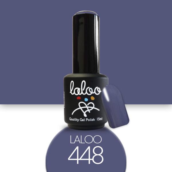 Ημιμόνιμο βερνίκι Laloo Cosmetics 15ml - N.448 Γκρι μπλε