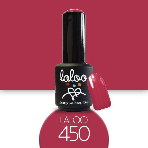 Ημιμόνιμο βερνίκι Laloo Cosmetics 15ml - N.450 Φούξια σκούρο