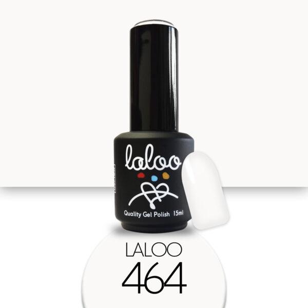 Ημιμόνιμο βερνίκι Laloo Cosmetics 15ml - N.464 Λευκό βάση γαλλικού (ημιδιάφανο milky)