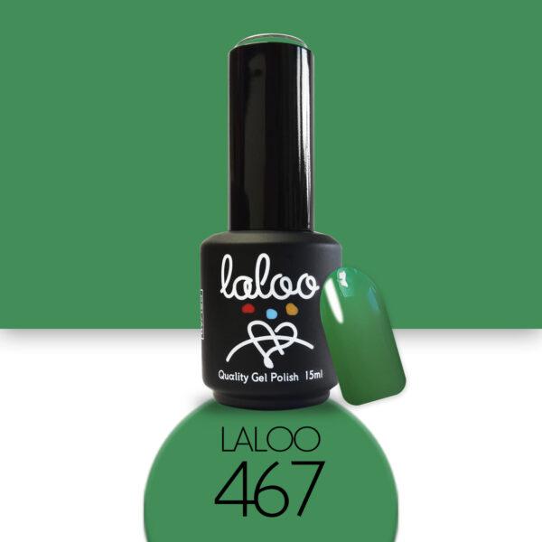 Ημιμόνιμο βερνίκι Laloo Cosmetics 15ml - N.467 Πράσινο σκούρο