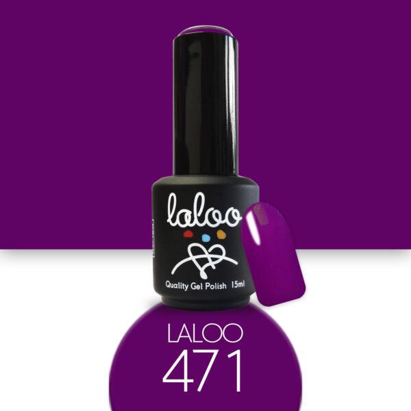 Ημιμόνιμο βερνίκι Laloo Cosmetics 15ml - N.471 Μενεξεδί έντονο