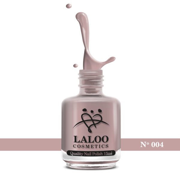 Απλό βερνίκι Laloo Cosmetics 15ml - N.04 Ανοιχτό σάπιο μήλο (nude)