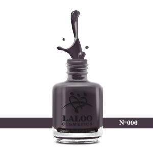 Απλό βερνίκι Laloo Cosmetics 15ml - N.06 Καφέ-μελιτζανί