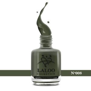 Απλό βερνίκι Laloo Cosmetics 15ml - N.08 Χακί