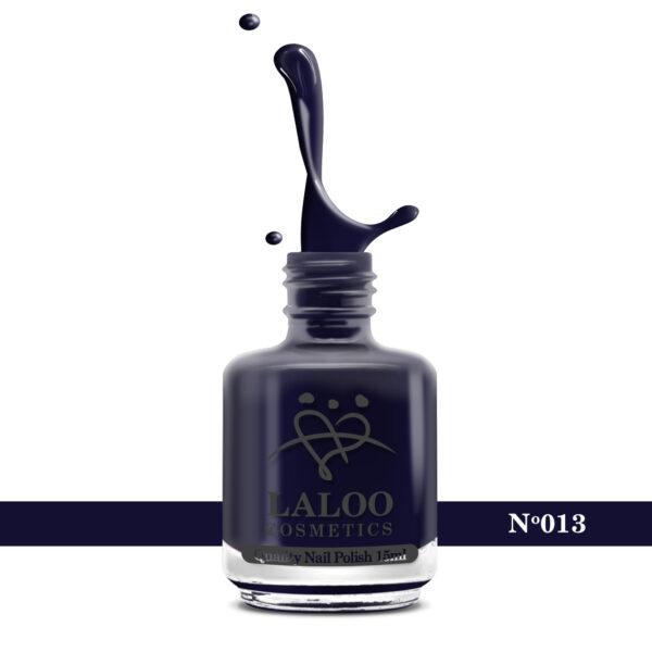 Απλό βερνίκι Laloo Cosmetics 15ml - N.13 Blue black