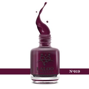 Απλό βερνίκι Laloo Cosmetics 15ml - N.19 Μωβ-μελιτζανί