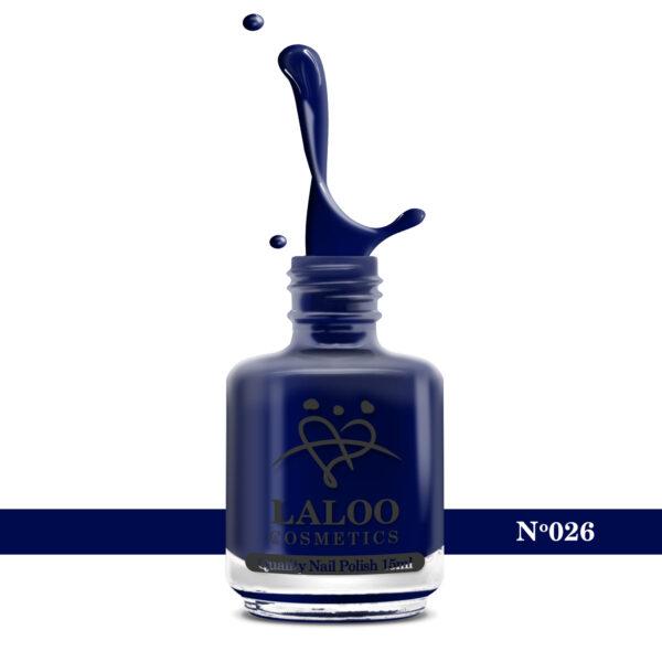 Απλό βερνίκι Laloo Cosmetics 15ml - N.26 Blue-Black