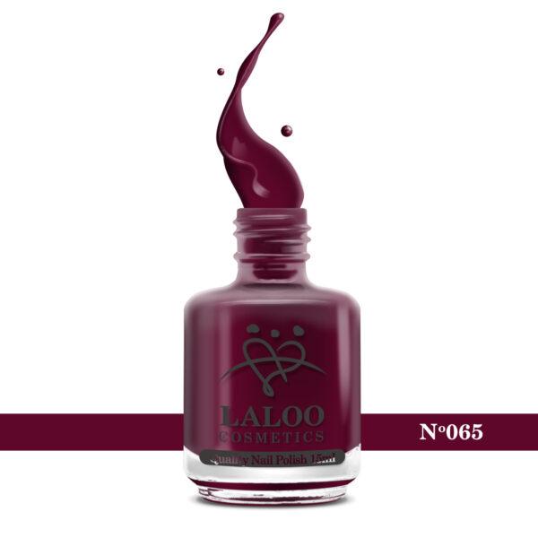 Απλό βερνίκι Laloo Cosmetics 15ml - N.65 Μπορντώ-κόκκινο
