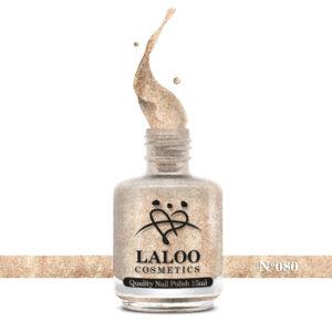 Απλό βερνίκι Laloo Cosmetics 15ml - N.80 Ροζ gold με ψιλό glitter
