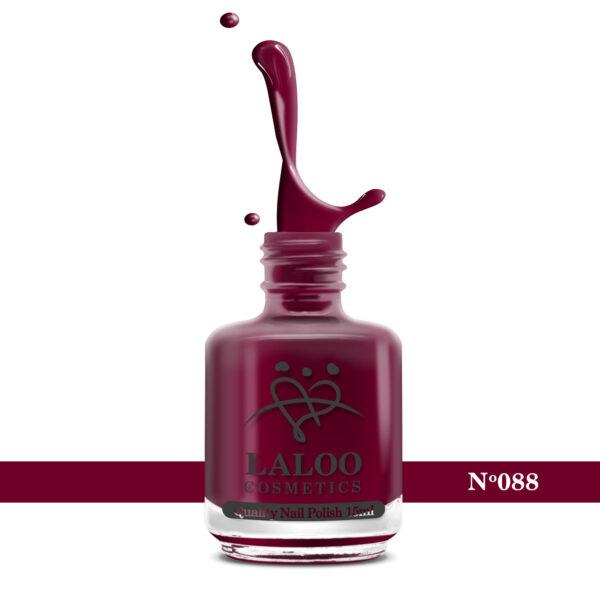 Απλό βερνίκι Laloo Cosmetics 15ml - N.88 Κόκκινο σκούρο-βυσσινί