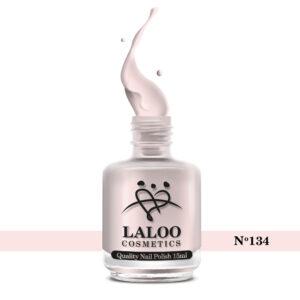 Απλό βερνίκι Laloo Cosmetics 15ml - N.134 Pink έντονο ημιδιάφανο (βάση γαλλικού)
