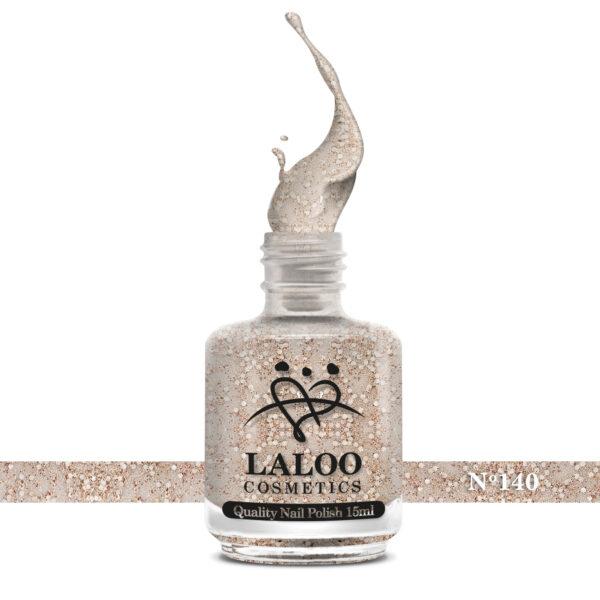 Απλό βερνίκι Laloo Cosmetics 15ml - N.140 Μπρονζέ glitter (χοντρή πούλια)