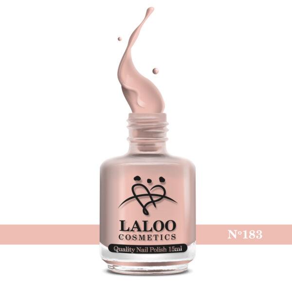 Απλό βερνίκι Laloo Cosmetics 15ml - N.183 Nude (προς σομόν σκούρο)