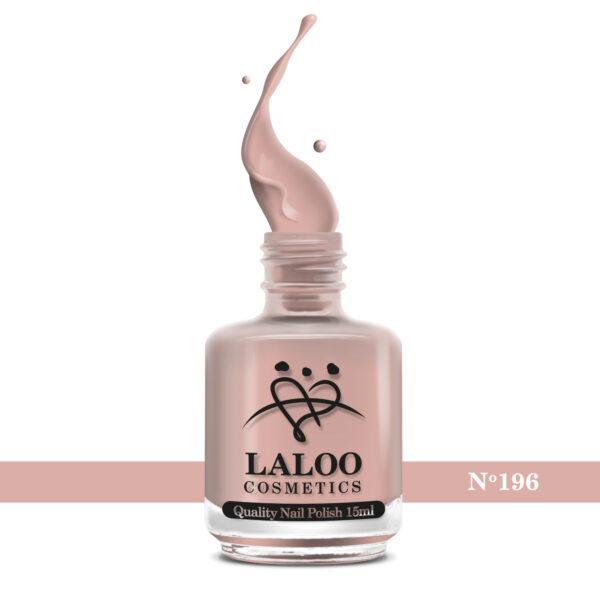 Απλό βερνίκι Laloo Cosmetics 15ml - N.196 Nude μπεζ
