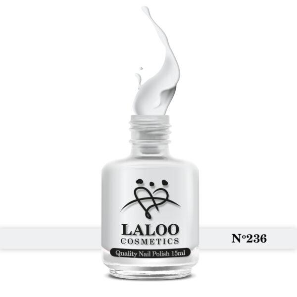 Απλό βερνίκι Laloo Cosmetics 15ml - N.236 Λευκό γαλακτερό (βάση γαλλικού)