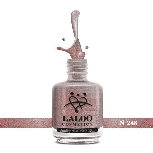 Απλό βερνίκι Laloo Cosmetics 15ml - N.248 Bronze μεταλλικό με shimmer