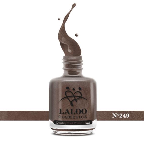 Απλό βερνίκι Laloo Cosmetics 15ml - N.249 Bronze μεταλλικό