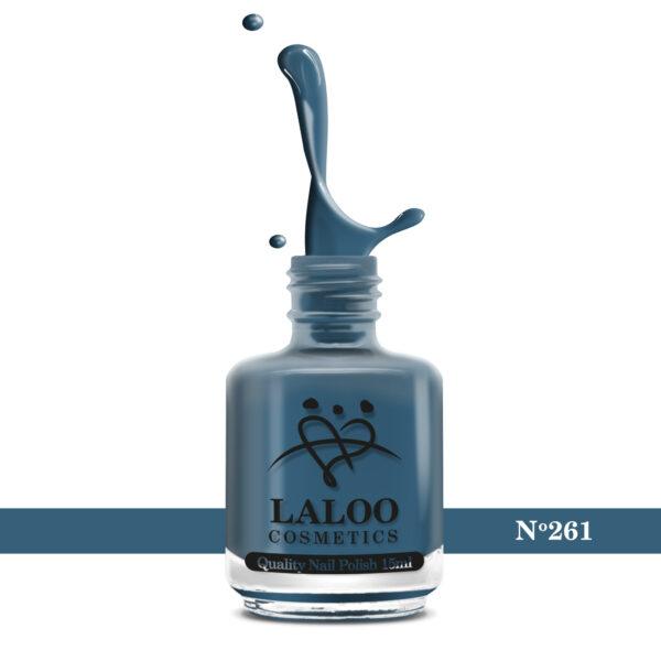 Απλό βερνίκι Laloo Cosmetics 15ml - N.261 Μπλε-πετρόλ ανοιχτό