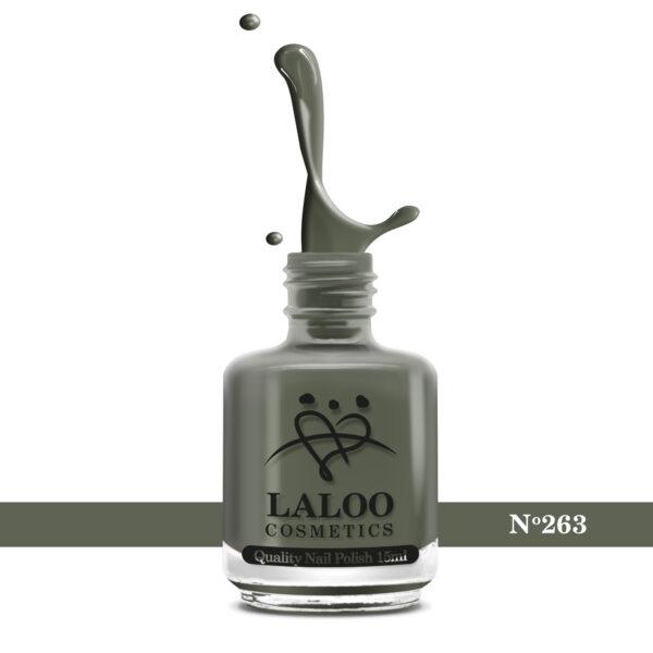 Ημιμόνιμο βερνίκι Laloo Cosmetics 15ml – N.263 Χακί