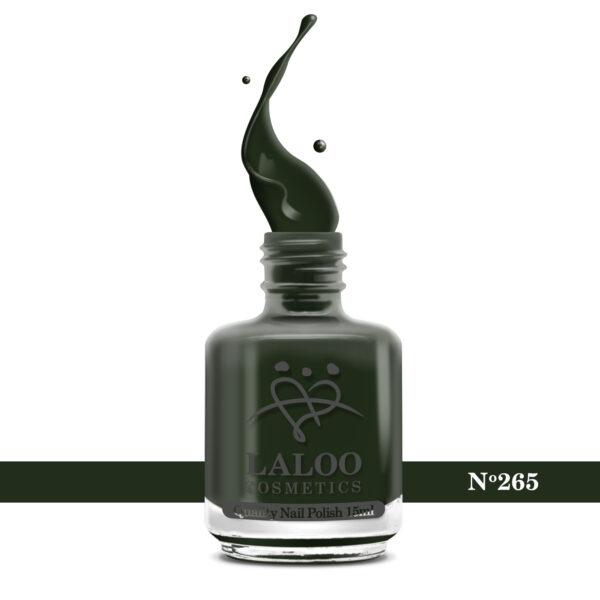Απλό βερνίκι Laloo Cosmetics 15ml - N.265 Πράσινο σκούρο