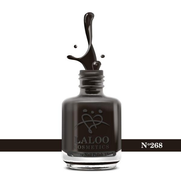 Απλό βερνίκι Laloo Cosmetics 15ml - N.268 Καφέ-μαύρο