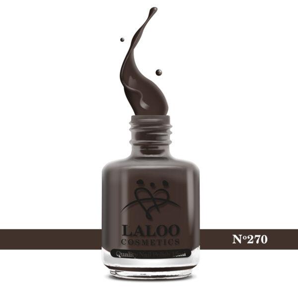 Απλό βερνίκι Laloo Cosmetics 15ml - N.270 Καφέ σκούρο του ξύλου