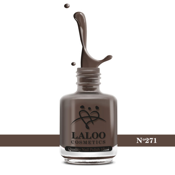 Απλό βερνίκι Laloo Cosmetics 15ml - N.271 Καφέ σοκολατί ανοιχτό